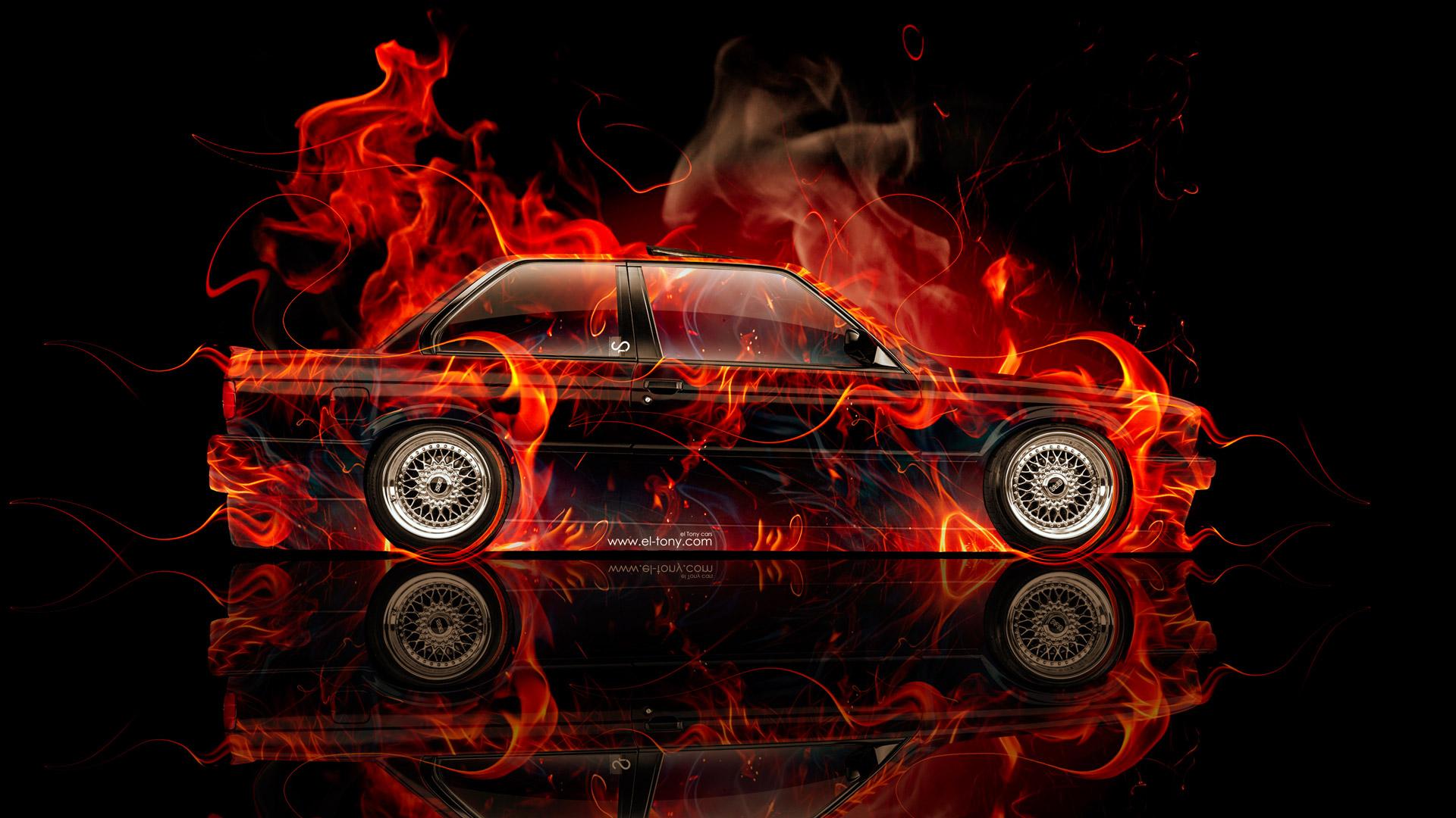 Е30 в огне